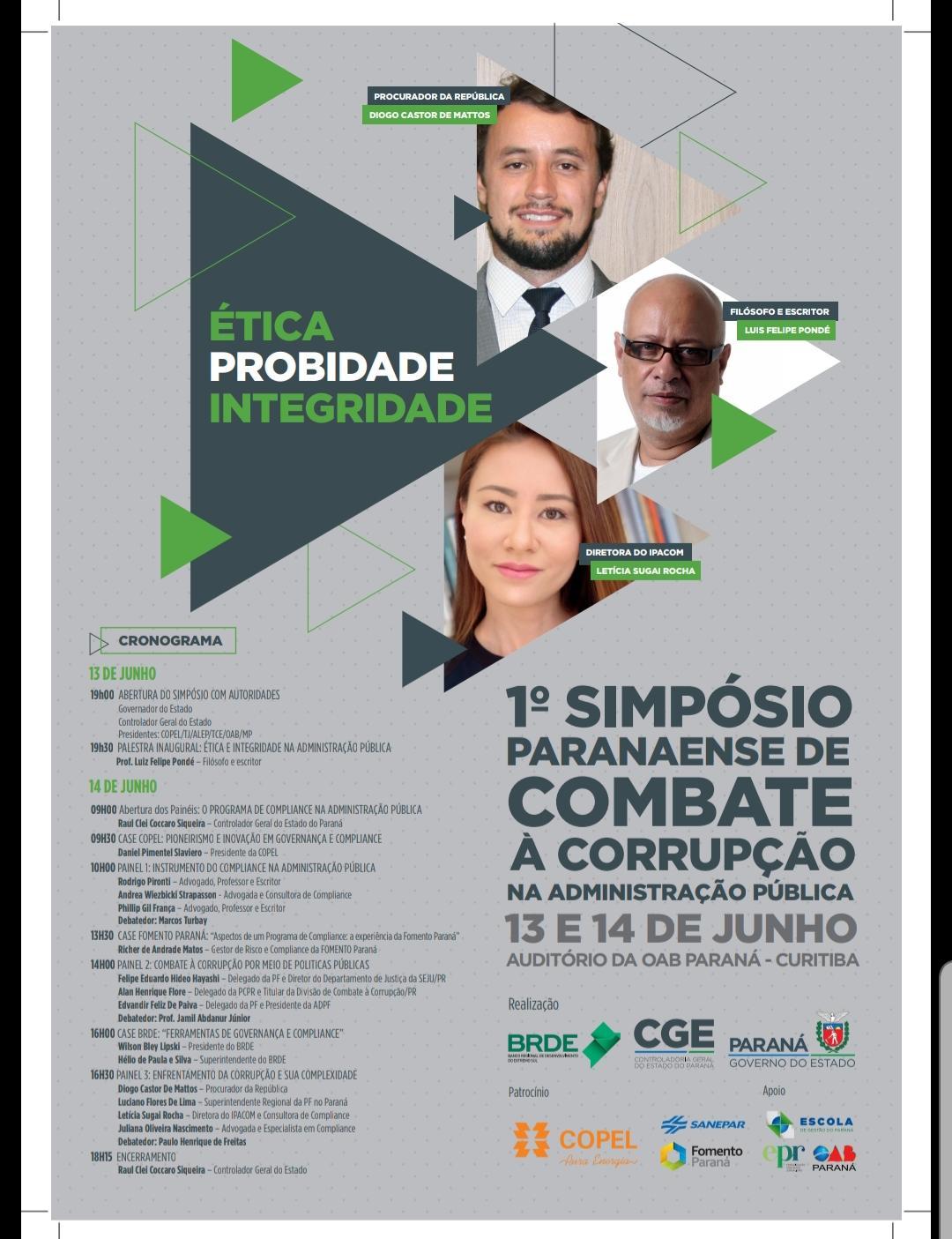 Convite Simpósio Combate à Corrupção